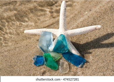 Sea Glass on the Beach