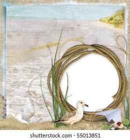 Sea holidays frame