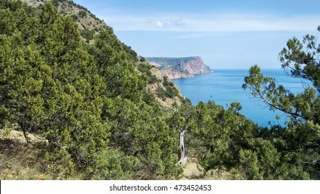 sea and the huge stones, sea landscape