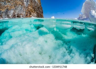 Sea Ice, half water
