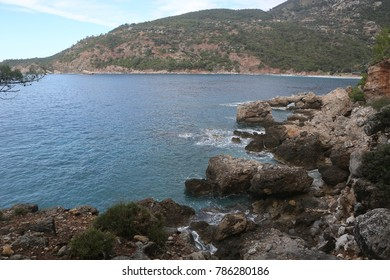 Sea inlet at Kabak, Fethiye, Turkey.
