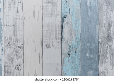 Sea interior background texture hardwood in living room decoration, Paint wall, Blue pillow, sea concept.