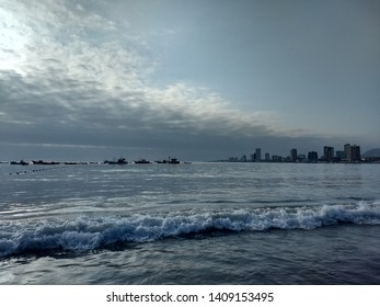 Sea and Iquique Beach, Chile