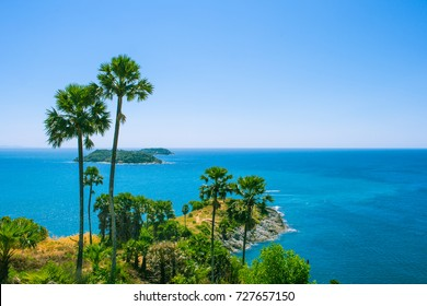 sea and island at Laem Phrom Thep ,Puket,Thailand