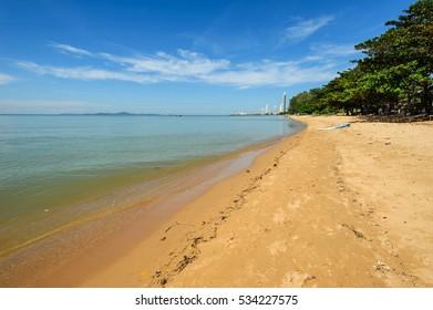 Sea Jomtien Beach, Pattaya Chon Buri in thailand