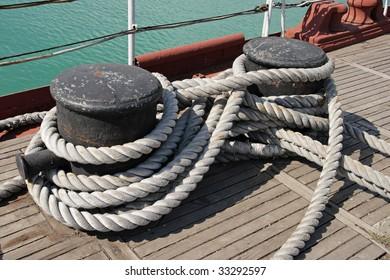 Sea knot on a ship deck