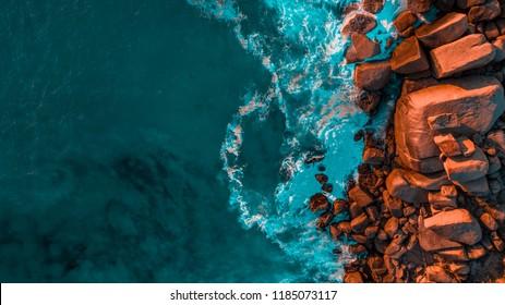 sea landscape drone