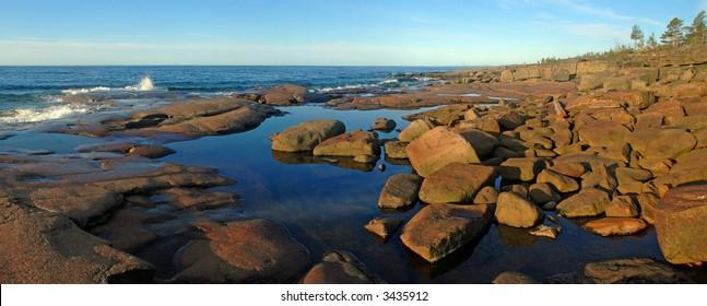 Sea landscape in High Coast,  Sweden
