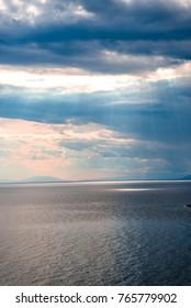 Sea landscape at Ionnian sea