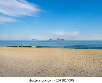 Sea landscape and people having fun