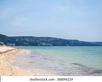 Sea landscape. Summer, beach, clear day. Europe, Bulgaria
