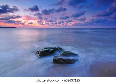 sea landscape with a sunset