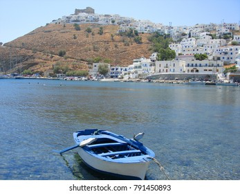 Sea level photo of iconic castle and village of Astypalaia with unique traditional character, Dodecanese, Greece