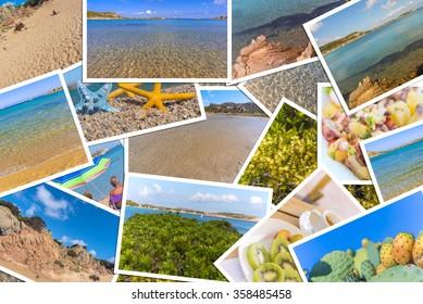 Sea life photo collage