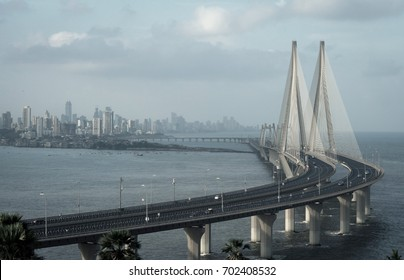 The Bandra–Worli Sea Link, officially called Rajiv Gandhi Sea Link.
