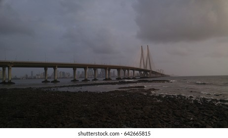 The Bandra–Worli Sea Link situated in the city of Mumbai in india