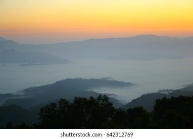 Sea of mist, Huai Nam Dang, Chiang Mai