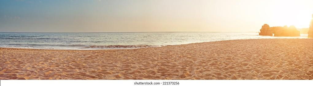 Sea morning panorama tropical horizontal composition