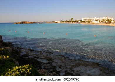 the sea in the morning at the resort of Cyprus