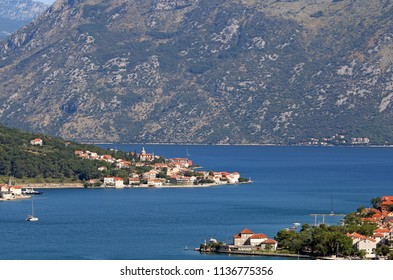 sea and  mountains Kotor bay Montenegro landscape