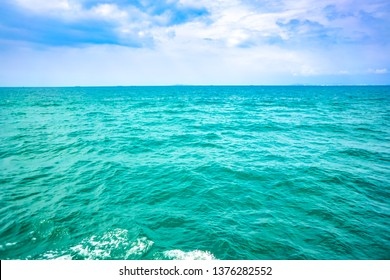 Sea ocean on blue sky and cloud on nature concept