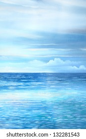 sea : oil color painting
