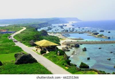 Sea of Okinawa,Miyakojima,Higashihennazaki,Japan.