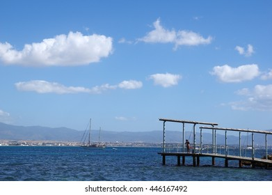 Sea panoramic photography / Photography of Calm Sea / Photography of Sea of Sardinia tourist area