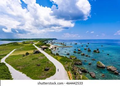 Sea, park, landscape. Okinawa, Japan, Asia.