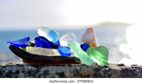 Sea polished glass.