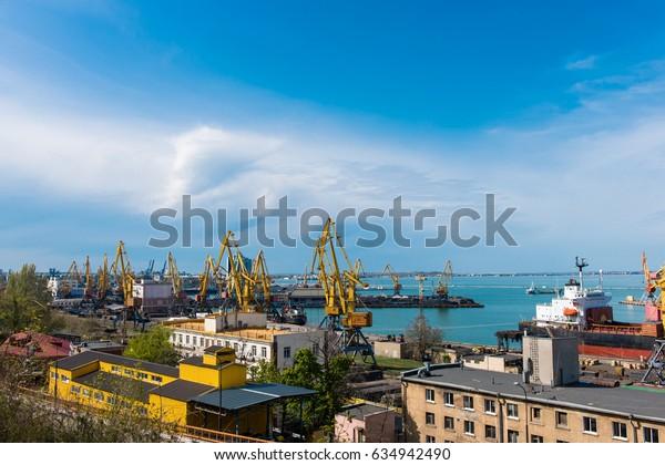 Sea Port of Odessa Black Sea Ukraine.