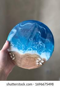 sea epoxy. Resin art work
