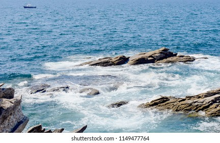 Sea with rocks
