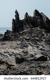 Sea rocks in India