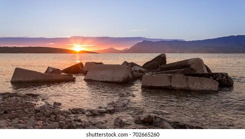 Sea rocky formation