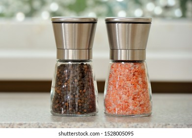 Sea salt and allspice for cooking