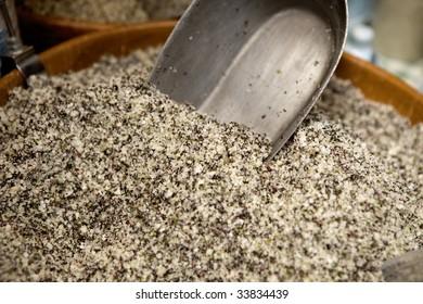 sea salt in basket