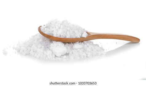 sea salt for cooking  isolated white background.