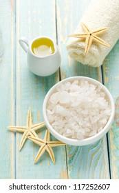 Sea salt and oil