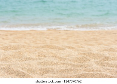 Sea sand and blue sea. Sea sand background