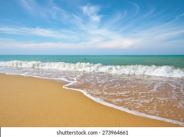 Sea and sand on the beach. Romantic composition.