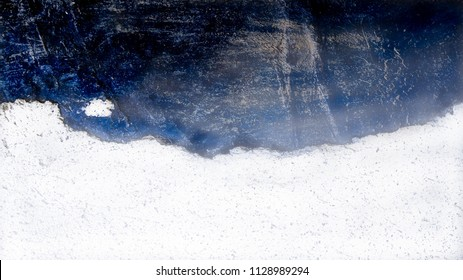 Sea, Satellite - Coast line on blue ocean illusion
