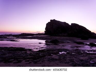Sea scape at Dawn at currumbin