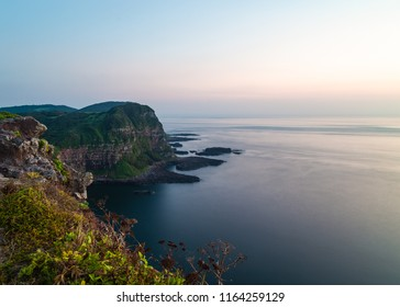 Sea scape of Shiodawara cliffs on Ikitsuki island in Japan.