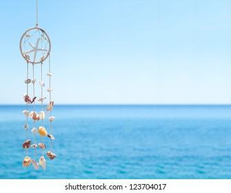 sea shell decoration. dream catcher