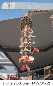 Sea shells handmade ornament handmade. Ayvalik was taken on the island of Cunda.