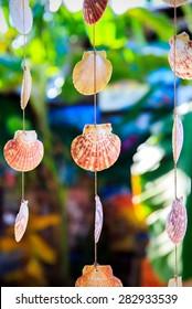 Sea shells souvenirs somewhere in Dominican Republic
