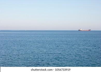 Sea and ship, Antalia, Turkey