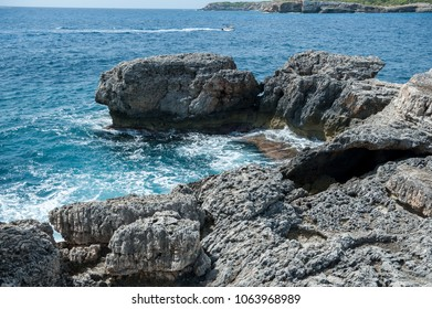 Sea shore in Barca Trencada, Majorca