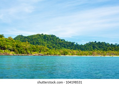 sea shore with jungle, Andaman Sea, Thailand